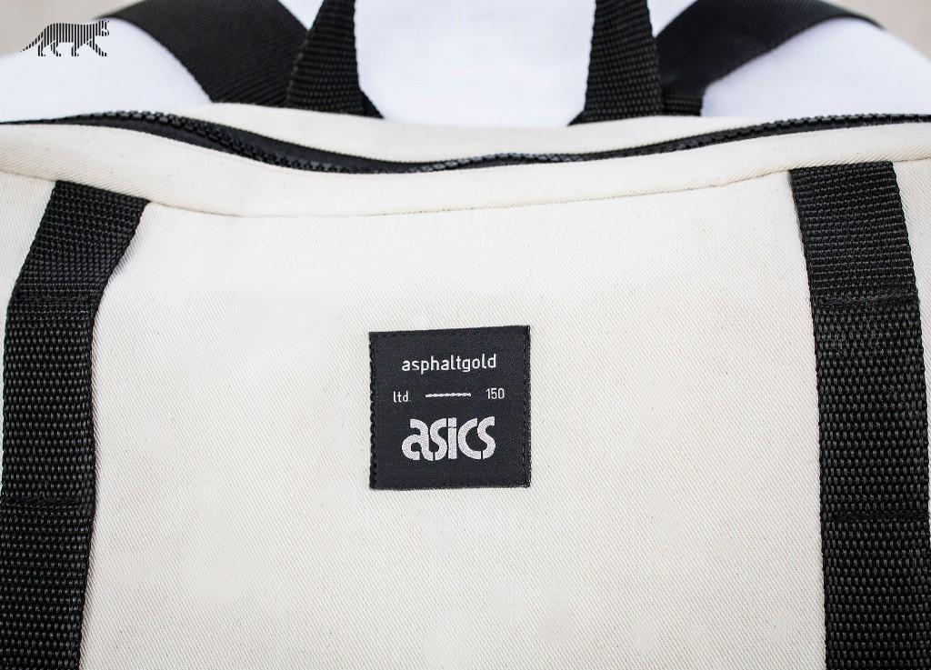 asics tiger backpack gold